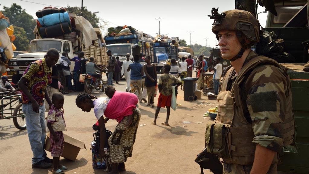 سربازان حافظ صلح سازمان ملل متحد در آفریقای مرکزی