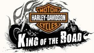 图为美国著名摩托车哈雷戴维森标识