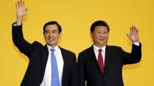 中国大陆与台湾领导人马英九与习近平