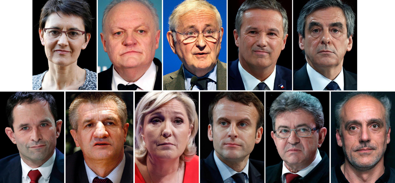 Onze candidatos disputarão a eleição presidencial francesa