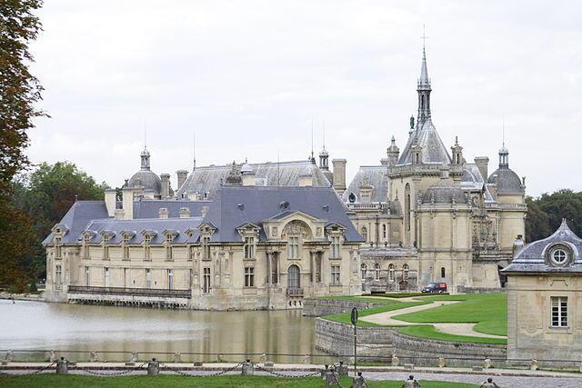 El castillo de Chantilly.