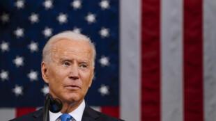 Joe Biden ante el Congreso el 28 de abril de 2021