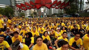 Biểu tình tại thủ đô Kuala Lumpur đòi thủ tướng Malaysia Razak Najib từ chức, ngày 19/11/2016