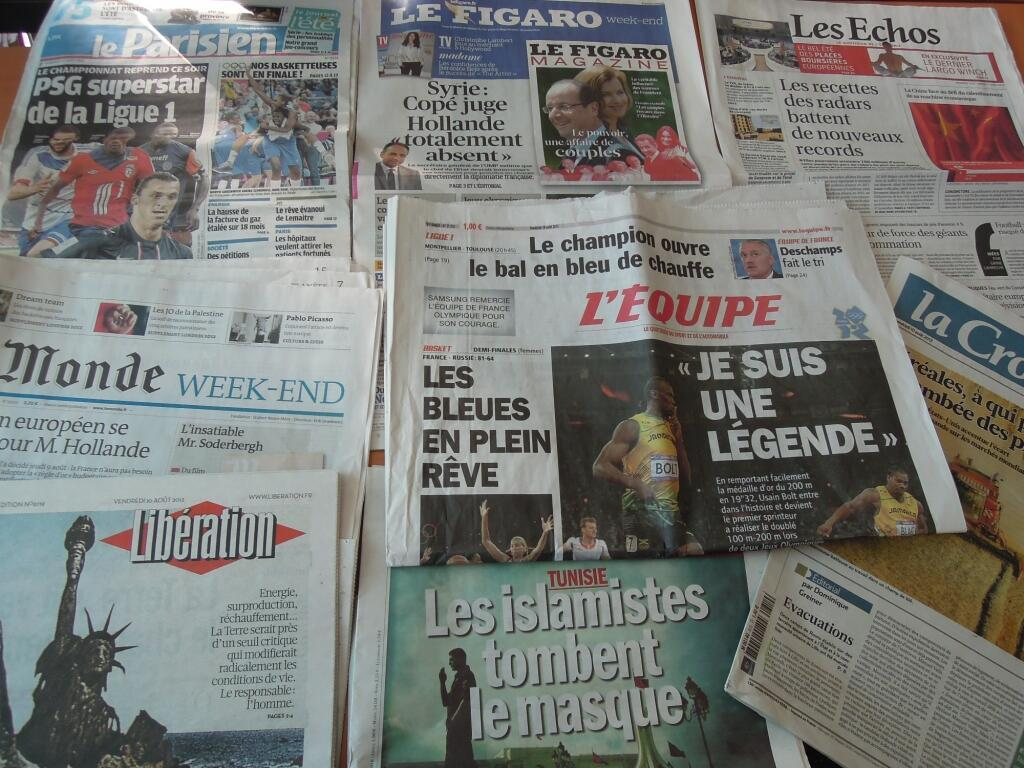 Diários franceses   10/08/2012
