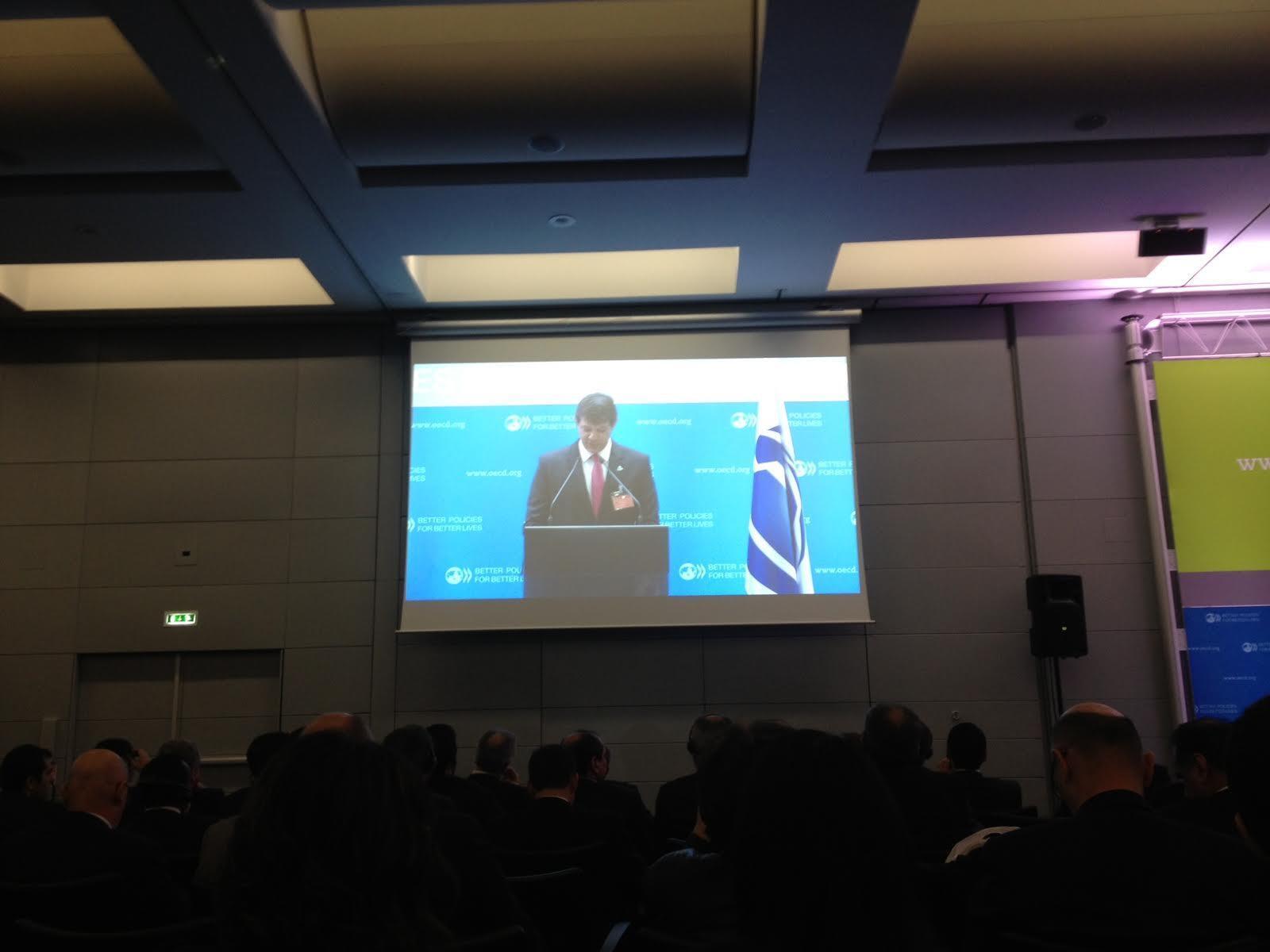 O prefeito de São Paulo, Fernando Haddad, durante a apresentação da cidade candidata a sediar a EXPO 2020.