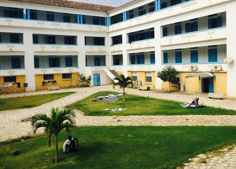 Des logements étudiants de l'université Cheick Anta Diop, à Dakar.