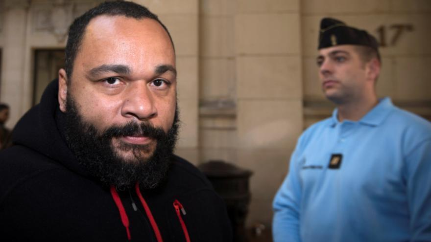 French humourist Dieudonné, a convicted antisemite, supported the French rapper