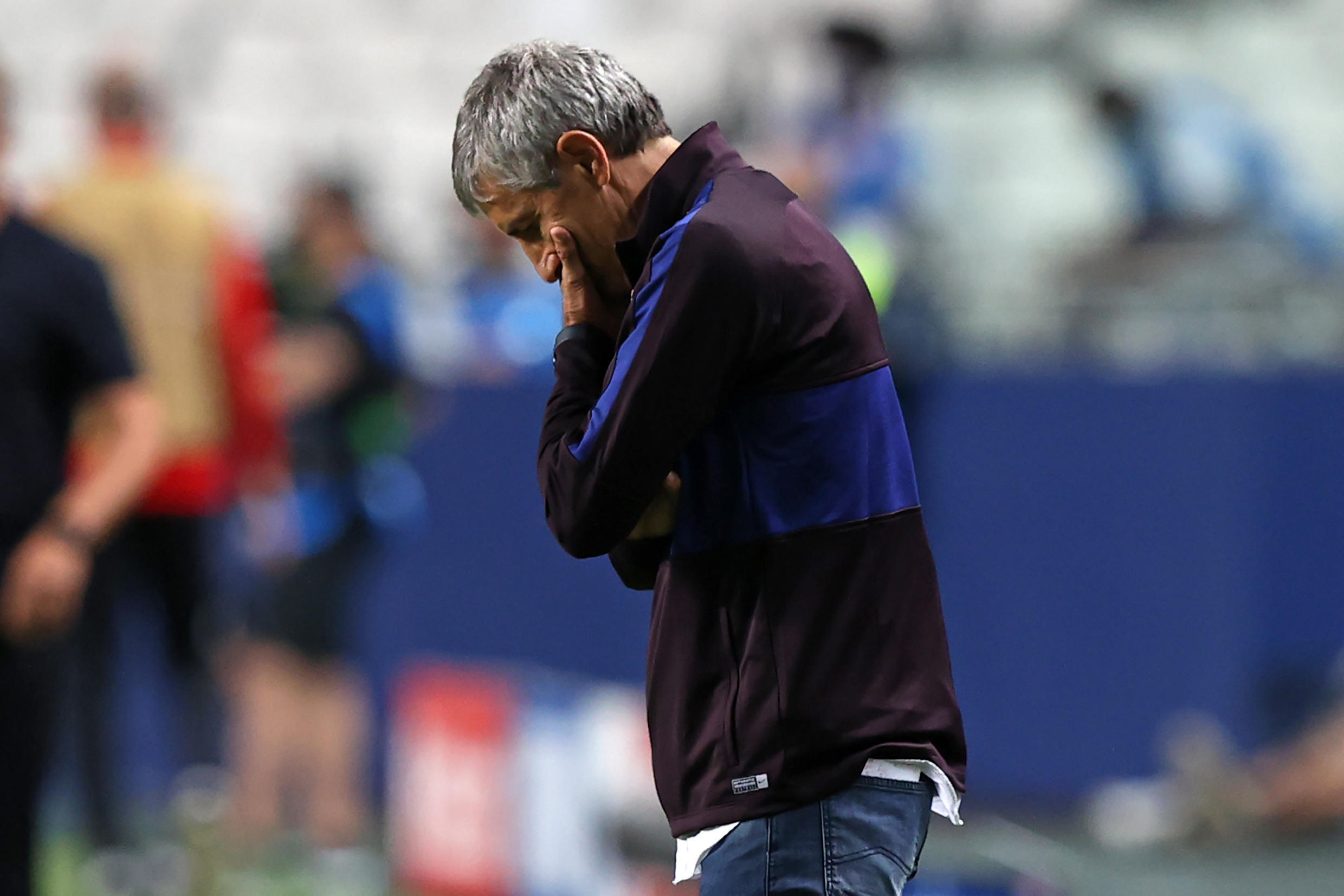 Quique Setien was sacked as Barcelona coach after barely six months in charge