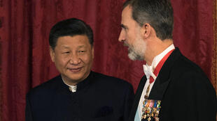 中國國家主席習近平與西班牙國王費利佩六世