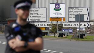 Le port de Tilbury, au Royaume-Uni.
