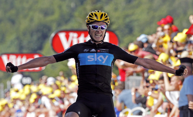 Кристофер Фром, победитель этапа Тур де Франс в Планш-де-Бель-Фий 7 июля 2012 г.