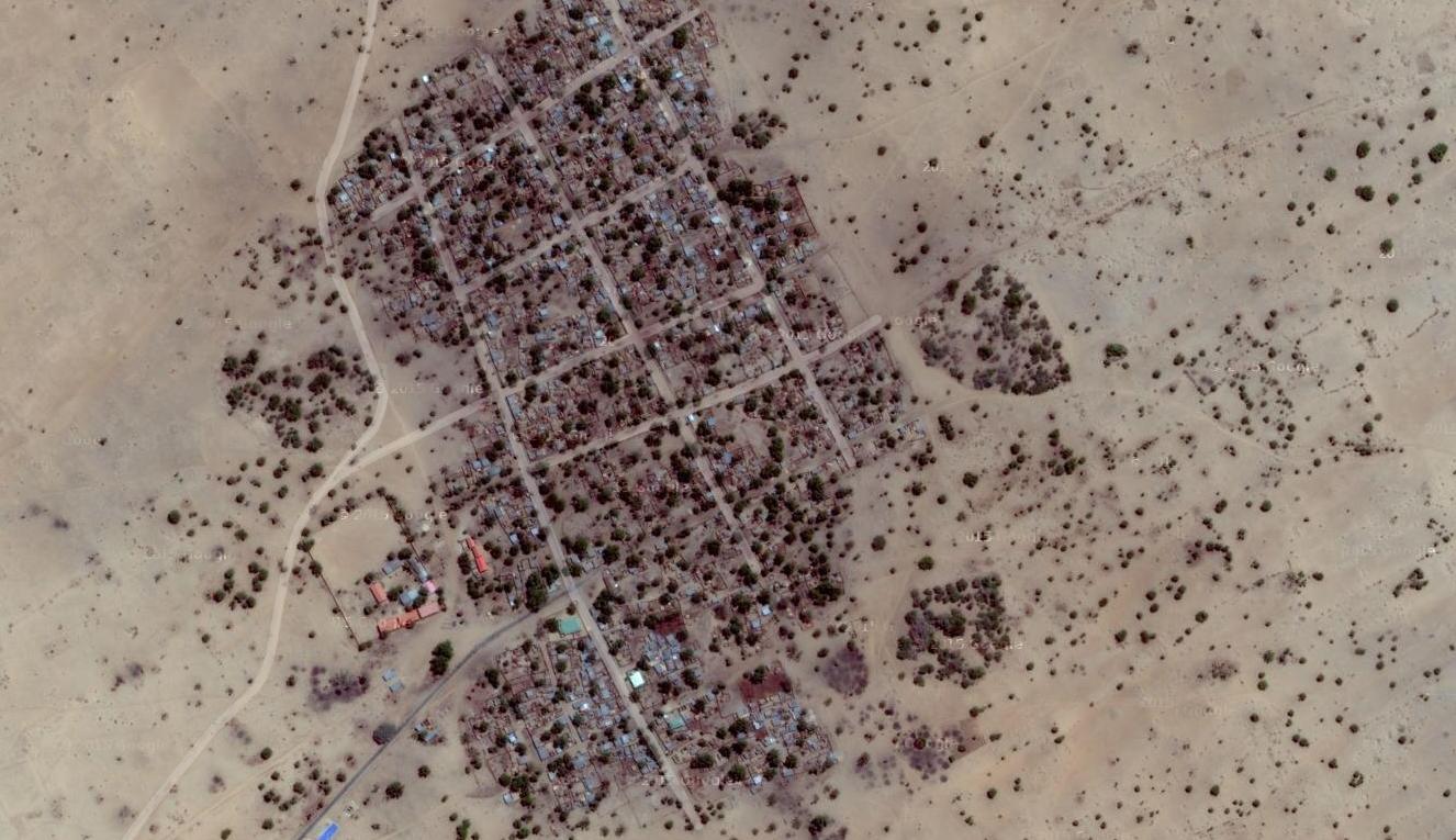 Vue du village de Dalori, près de Maiduguri, où des dizaines de villageois ont été tués par Boko Haram, le 30 janvier 2016.