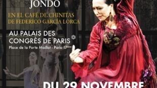 Cartel del espectáculo en París