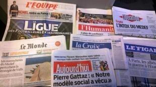 Primeiras páginas dos diários franceses 16/09/2014