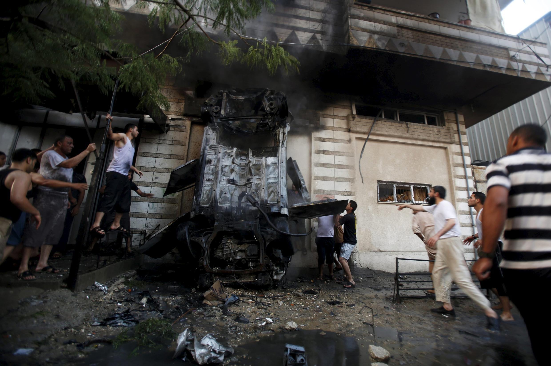 Bomb attacks in Gaza
