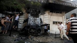 Bomb attacks in Gaza