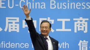 Wen Jiabao en Bruselas, este 20 de septiembre de 2012.