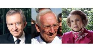 В первой тройке богатейших людей Франции: Бернар Арно, Жерар Мюльез и Лилиан Беттанкур