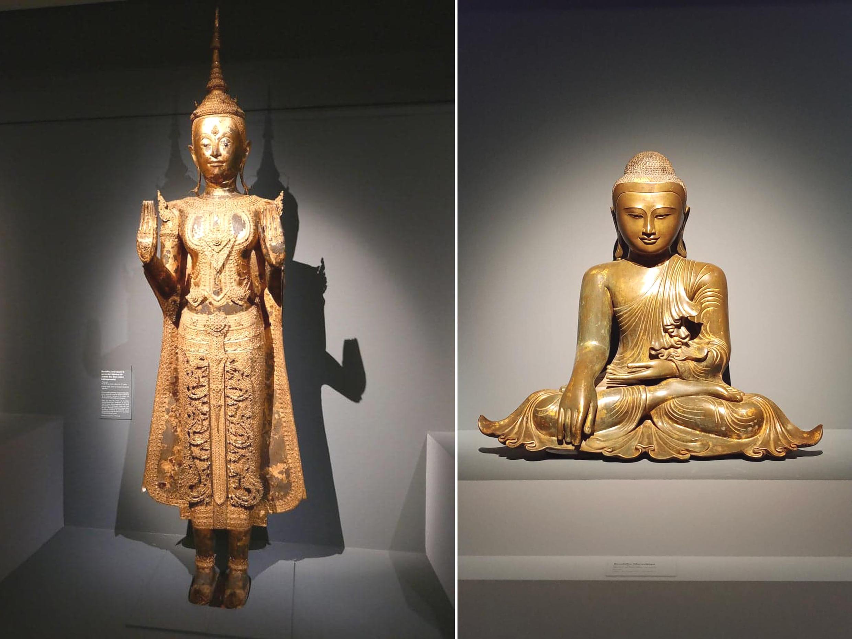 Đức Phật thủ ấn (mudra), mỗi động tác của bàn tay đều có ý nghĩa riêng : thiền định, thuyết pháp, khai sáng, giác ngộ