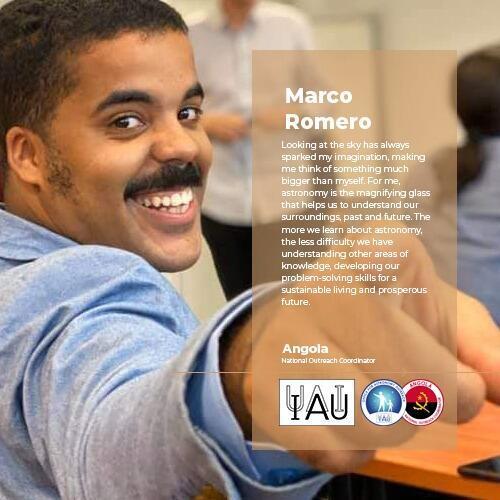 Marco Romero, especialista em suporte de navegação balística, está a tirar o grau de mestrado em engenharia de sistemas espaciais.