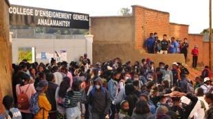 Le Collège d'Enseignement Supérieur d'Analamahitsy, en plein coeur de la capitale, accueille depuis lundi 21 septembre près de 900 élèves inscrits à l'examen du BEPC.