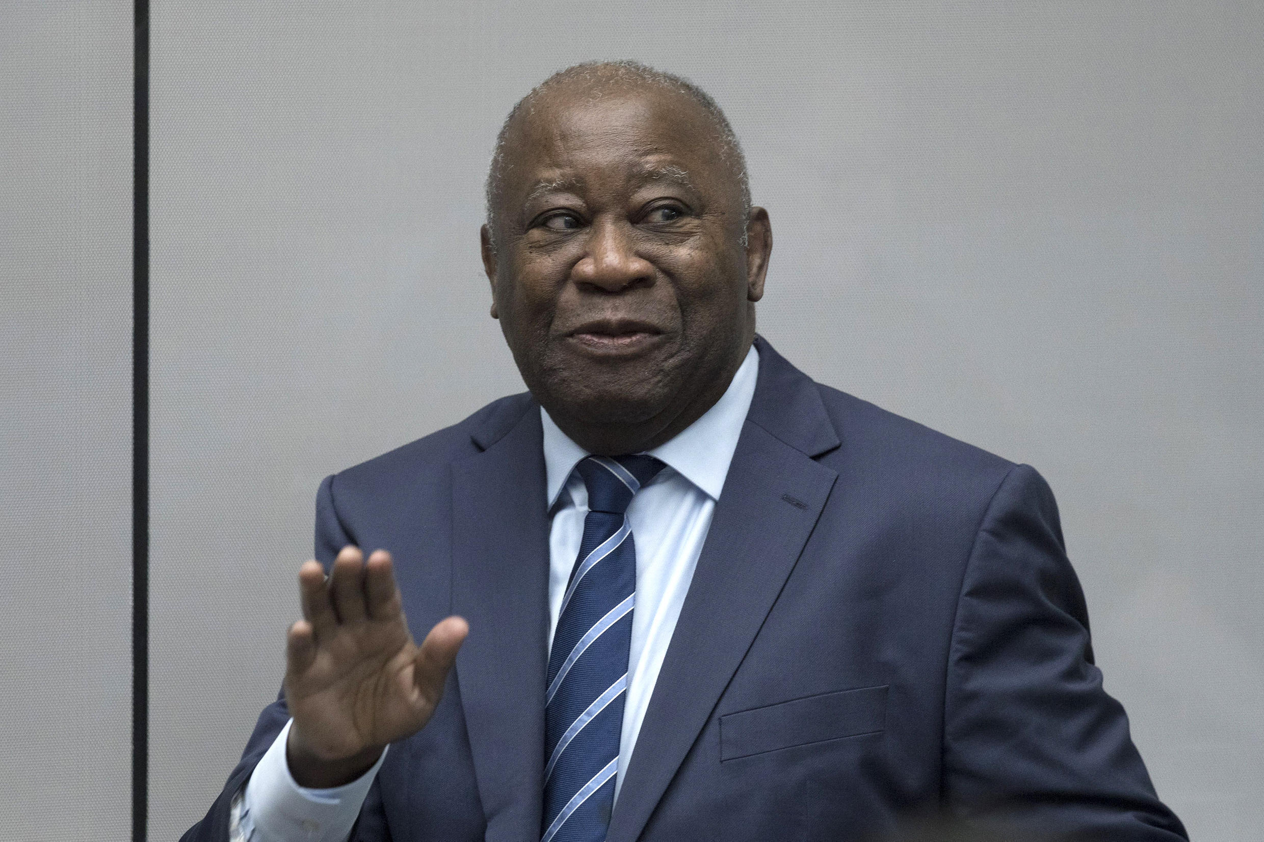 Former Ivory Coast President Laurent Gbagbo (pictured January 2019 in the courtroom of the International Criminal Court in The Hague) was cleared of crimes against humanity in 2019, eight years after the former West African strongman's arrest