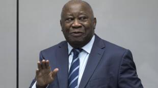 L'ancien président ivoirien Laurent Gbagbo, ici à la CPI en janvier 2019.