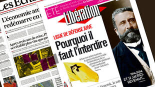Capa dos jornais franceses Libération e Les Echos desta quinta-feira, 31 de julho de 2014.