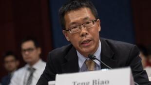 滕彪在美國國會聽證會2015年9月18日