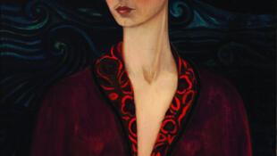 Frida Kahlo (1907 - 1954), Autorretrato con traje de terciopelo.