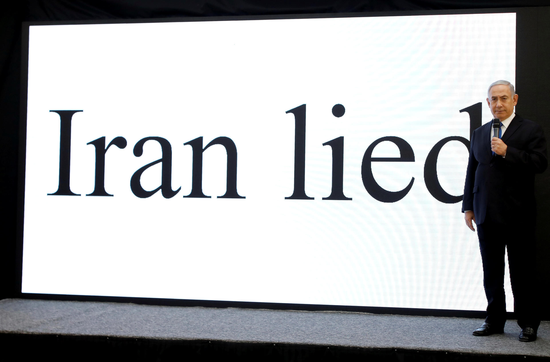 以色列總理內塔尼亞胡4月30日在特拉維夫發表聲明,伊朗在核問題上撒謊。
