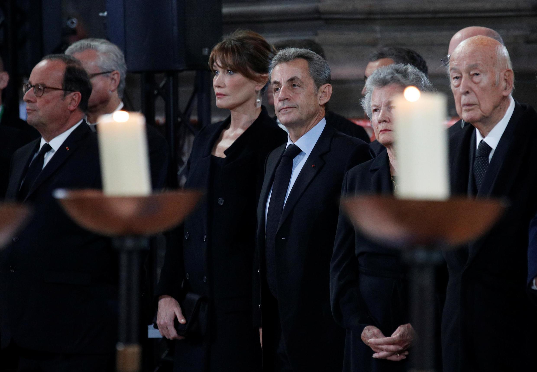 روسای جمهوری پیشین فرانسه، والری ژیسکاردستن، نیکلا سرکوزی و فرانسوا هولاند