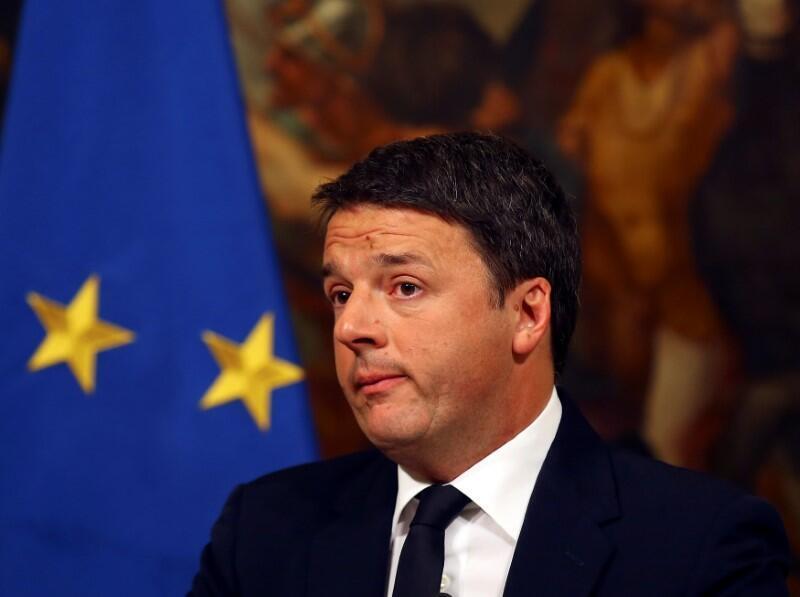 Matteo Renzi, en conférence de presse après le rejet du référendum constitutionnel, le 5 décembre 2016.