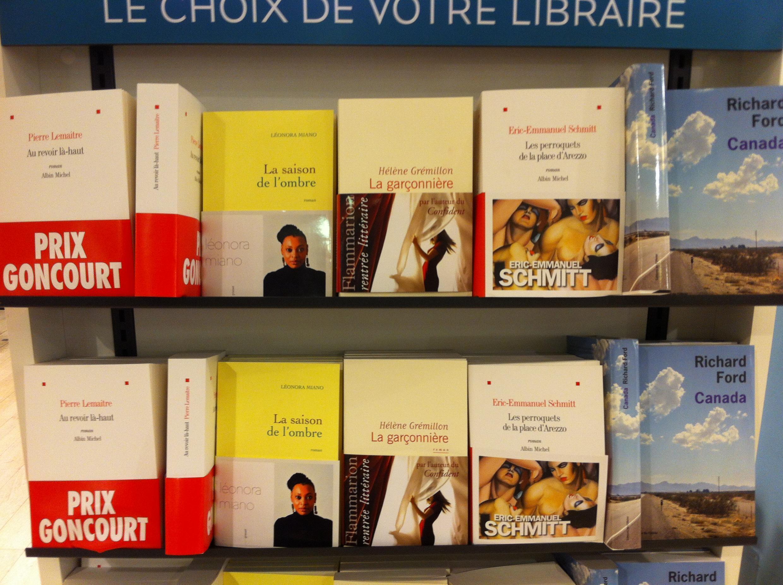 O prêmio Goncourt 2014, mais importante dos prêmios literários franceses será anunciado dia 5 de novembro.