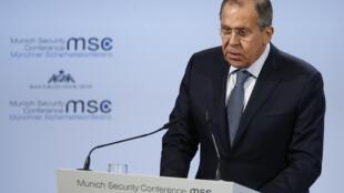 Ngoại trưởng Nga phát biểu tại Hội nghị An ninh Munich ngày 17/02/2018.