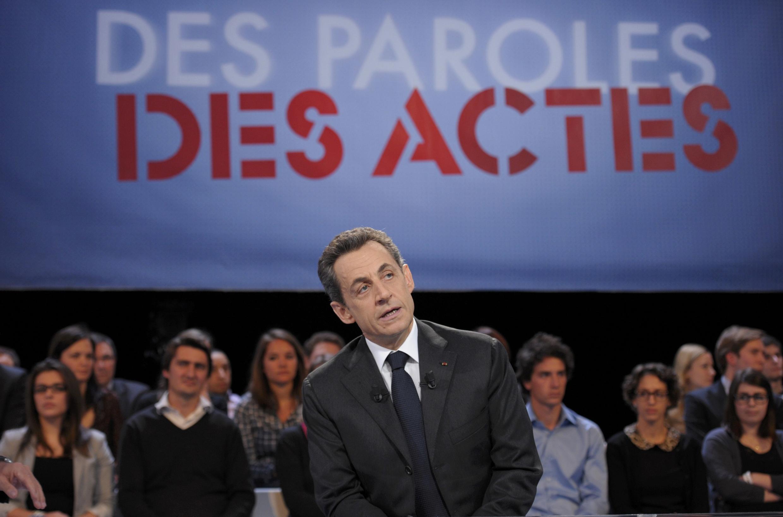 Nicolas Sarkozy spoke during a program on France 2 on Tuesday night