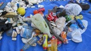 Algunos desechos que se encuentran en el mar.