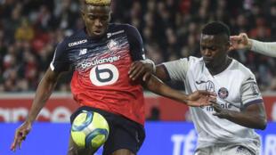Dan wasan Najeriya Victor Osimhen da ke taka leda a Lille ta Faransa.