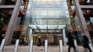 摩根士坦利公司位於英國倫敦分部的資料圖片