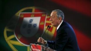 葡萄牙總統候選人馬塞洛-雷貝洛-德索薩Marcelo Rebelo de Sousa 2016年1月14日