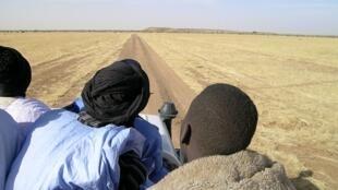 Sur une piste mauritanienne.