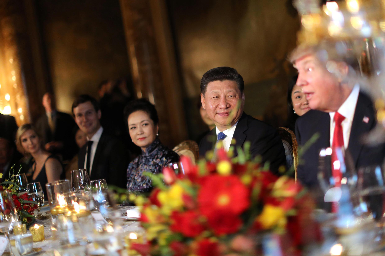 ترامپ و شی جین پینگ رئیس جمهور چین