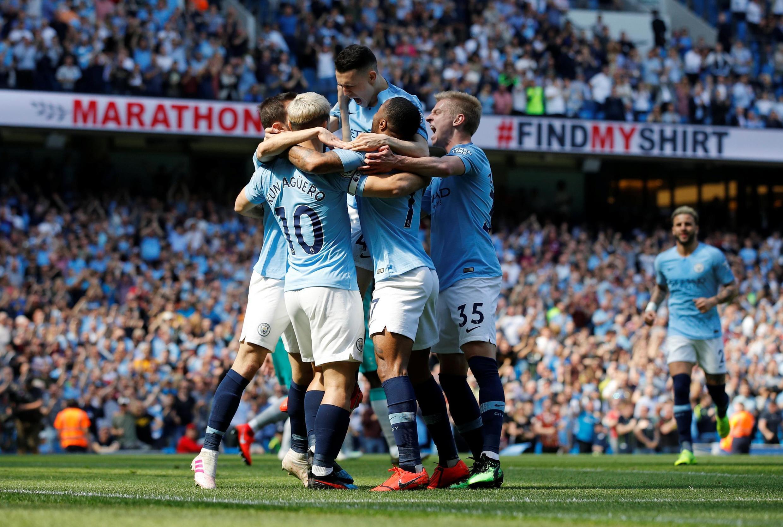 Wasu daga cikin 'yan wasan Manchester City
