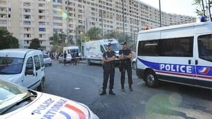 Police stage an operation in Marseille