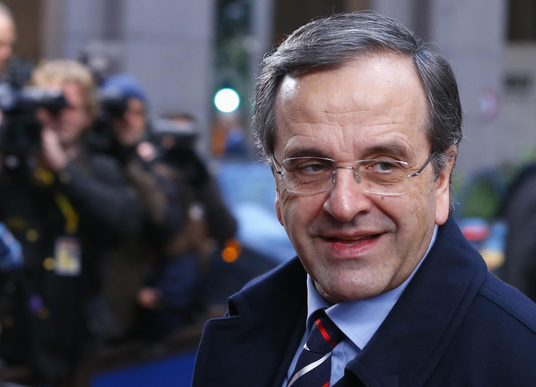 Le Premier ministre grec Antonis Samaras, à Bruxelles, le 20 décembre 2013.