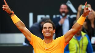 Rafael Nadal vence em Roma e volta ao topo do ranking mundial do tênis, em 20 de maio de 2018.