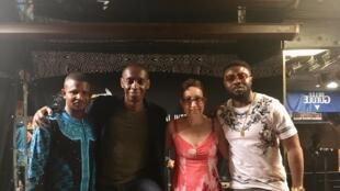 Dicko Fils, Claudy Siar, Suzanne Rousseau, directrice du festival ; et Prince Yannick.
