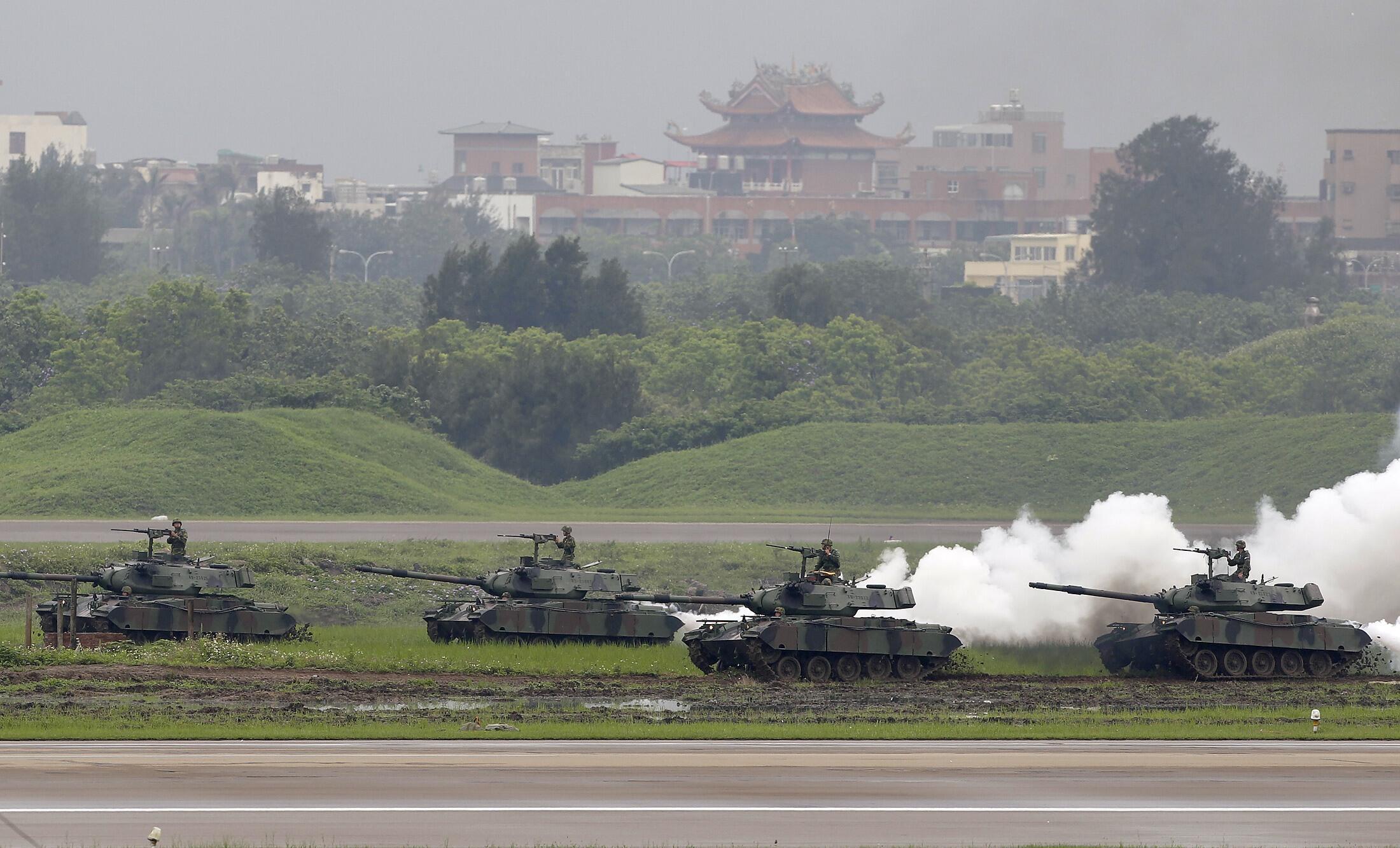 Cuộc tập trận Hán Quang diễn ra tại phía bắc Đài Loan hôm 19/04/2012 nhằm thực tập bảo vệ thủ đô Đài Bắc trong trường hợp bị Trung Quốc tấn công.