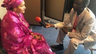 Abdoulkarim Ibrahim Shikal tare da Amina Mohammed, mataimakiyar Babban Sakataren Majlisar Dinkin Duniya