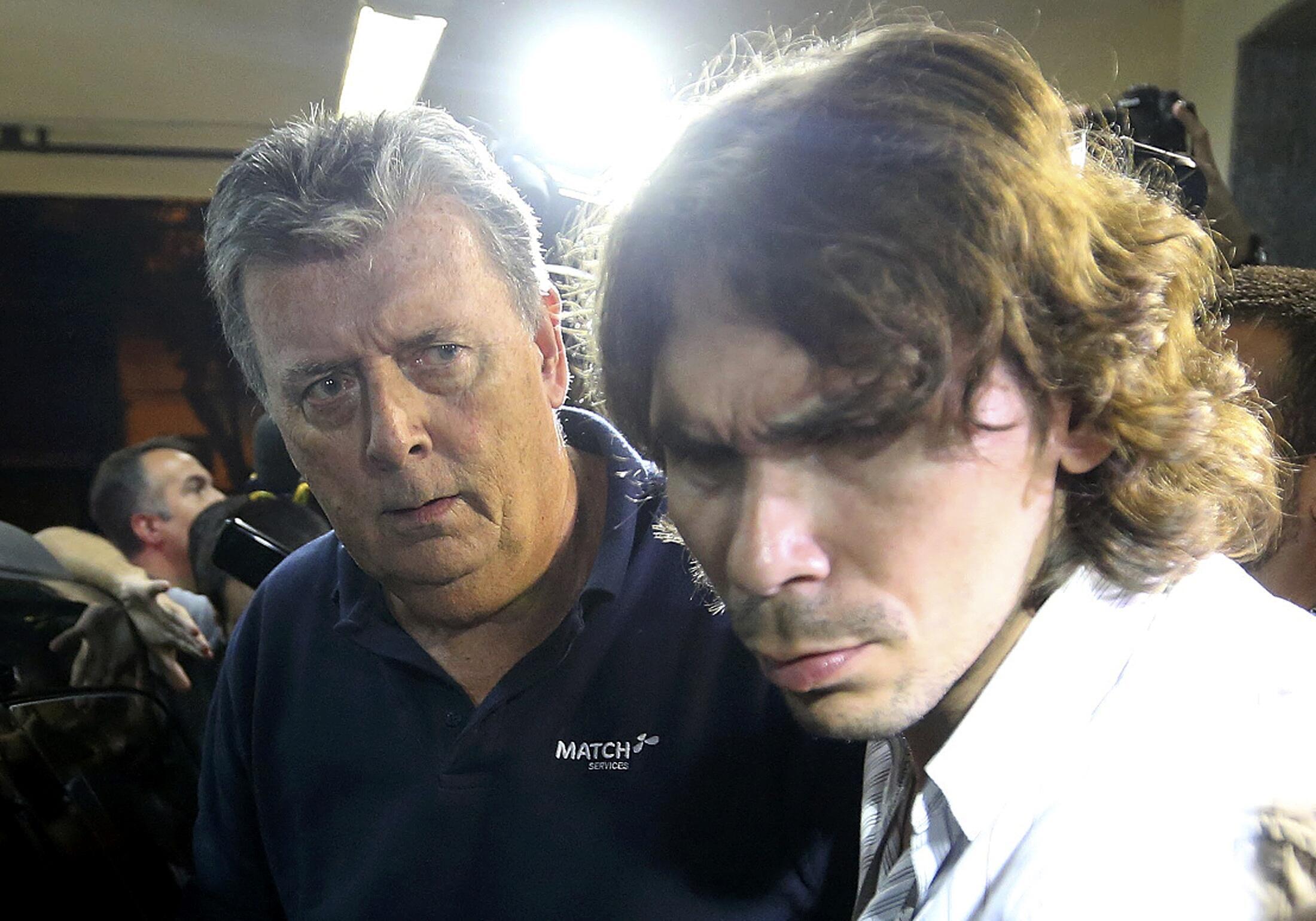 Ray Whelan(trái) bị bắt tại Rio hôm 07/07/2014.